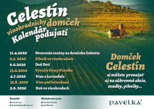 kalendár podujatí domček Celestín rok 2020